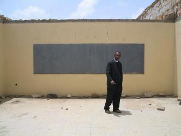 Armed boarder conflict: What remains after the shelling of a secondary school, (Eritrean boarder, Zalambessa, 2003)