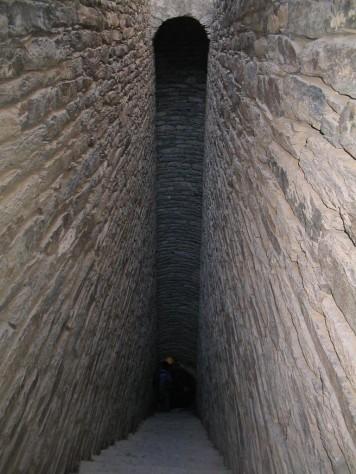 Inside a 30 year old hand dug masonry well (North Ethiopia, 2005)