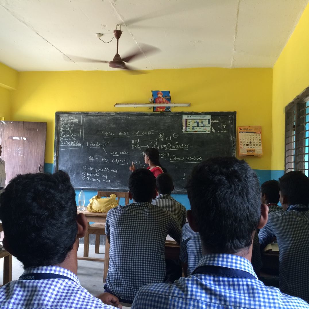 Puri, Odisha 2015: Joining chemistry lessons
