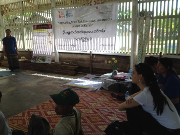 Mine Risk Eduction training in Kayah State