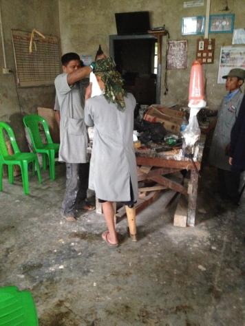 Orthopedic workshop in Kayah State to assist survivors of landmines