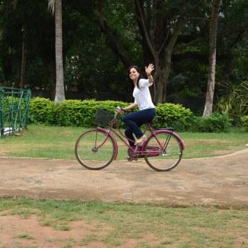Keonjhar, Odisha 2015: Testing the bicycles of the health workers (Somagiri Tribal Health Centre)