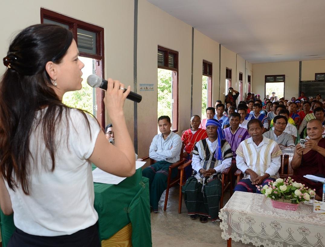 School opening ceremony in Kaw La Htoke (Ye township, South East Myanmar)