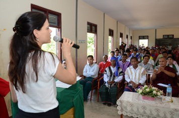 Speech at the opening ceremony in Kaw La Htoke (Ye township, South East Myanmar)
