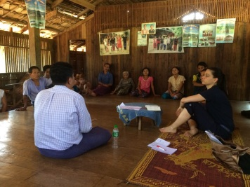 Meeting with the villagers in Ye township (South East Myanmar)